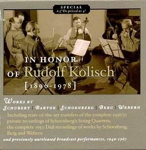 in honor of rudolf kolisch jw classical cd reviews oct 2003 musicweb uk. Black Bedroom Furniture Sets. Home Design Ideas