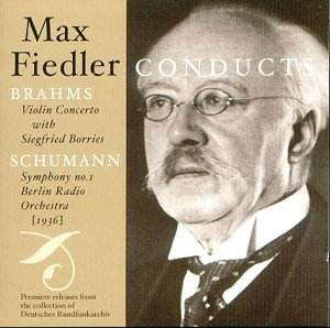 max fiedler conducts brahms and schumann jw classical cd reviews may 2003 musicweb uk. Black Bedroom Furniture Sets. Home Design Ideas