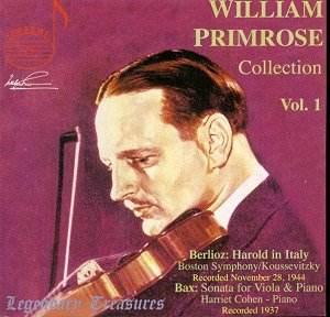 Boston Symphony Orchestra/Serge Koussevitzky, recorded Boston, 1944. Arnold BAX (1883-1953) Viola Sonata (1922) [26.56]