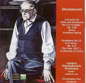 SHOSTAKOVICH Cello Concertos, Symphony 12 Cox DUNELM RECORDS