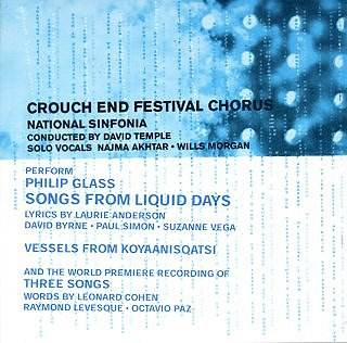 Philip GLASS Songs From Liquid Days: Film Music on the Web