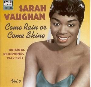 Sarah Vaughan, music, jazz, singing